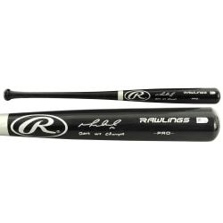 Mike Napoli Boston Red Sox Autographed Black Big Stick Bat with 13 WS Champs Inscription - Mounted Memories