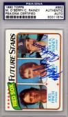 Mike O'Berry & Chuck Rainey Autographed Signed 1980 Topps Card Red Sox PSA/DNA