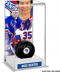 Mike Richter New York Rangers Deluxe Tall Hockey Puck Case