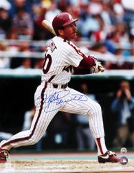 "Mike Schmidt Philadelphia Phillies Autographed 16"" x 20"" Looking at Ball Photograph"
