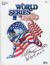 Mike Schmidt Philadelphia Phillies Autographed 1980 World Series Program with 80 WS MVP Inscription