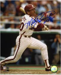 Mike Schmidt Philadelphia Phillies Autographed 8'' x 10'' Photograph With HOF 95 Inscription - Mounted Memories
