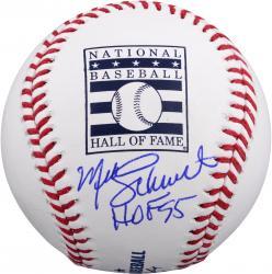 Mike Schmidt Philadelphia Phillies Autographed Hall of Fame Logo Baseball with HOF 95 Inscription