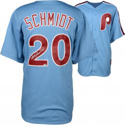 Mike Schmidt Philadelphia Phillies Autographed Majestic Cooperstown Replica Blue Jersey
