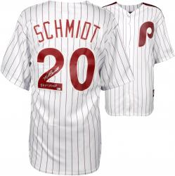 Mike Schmidt Philadelphia Phillies Autographed Majestic Cooperstown Replica White Jersey with 80 NL/WS MVP Inscription