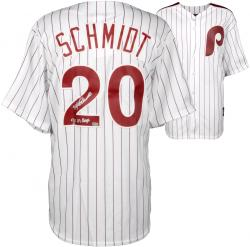 Mike Schmidt Philadelphia Phillies Autographed Majestic Cooperstown Replica White Jersey with 80 WS Champs Inscription
