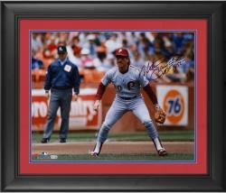 "Mike Schmidt Philadelphia Phillies Framed Autographed 16"" x 20"" Grey Fielding Photograph"