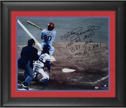 """Mike Schmidt Philadelphia Phillies Framed Autographed 16"""" x 20"""" World Series Home Run Shot Photograph-#2-19 of Limited Edition of 20"""
