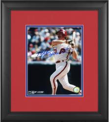 """Mike Schmidt Philadelphia Phillies Framed Autographed 8"""" x 10"""" Blue Signature Photograph"""