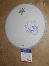 "Mike Shinoda Linkin Park Signed RARE! New 10"" Remo Drumhead PSA/DNA + PROOF!!"