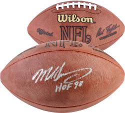 "Mike Singletary Autographed Wilson NFL Football with ""HOF 98"" Inscription - Mounted Memories"