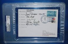 Mike Smith Reznik Scobee McNair STS 51 L Challenger Crew Signed x5 FDC PSA/DNA