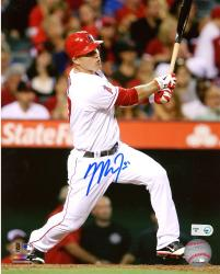 "Mike Trout Los Angeles Angels of Anaheim Autographed 8"" x 10"" Hitting Photograph"
