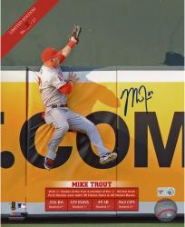 Mike Trout Los Angeles Angels of Anaheim Autographed 8'' x 10'' Sliding Photograph - Mounted Memories