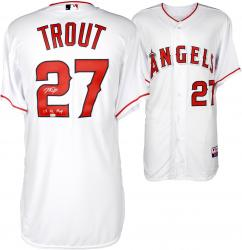 Mike Trout Los Angeles Angels of Anaheim Autographed White Authentic Jersey with 14 AL MVP Inscription