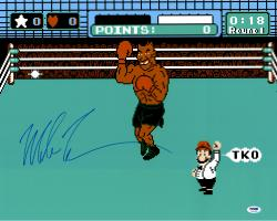 "Mike Tyson Autographed 16"" x 20"" Punch Out Photograph"