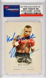 Mike Tyson Boxing Autographed 2006 Topps Allen & Ginter #301 Card with Kid Dynamite Inscription