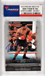 Mike Tyson Boxing Autographed 2012 Upper Deck All Time Greats #91 Card Limited Edition of 99