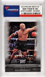 Mike Tyson Boxing Autographed 2012 Upper Deck All Time Greats #92 Card with HOF 2011 Inscription Limited Edition of 99