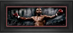 Mike Tyson Framed Autographed 10'' x 30'' Photograph with Baddest Man on the Planet Inscription