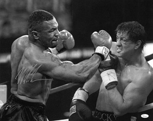 Mike Tyson Autographed Photograph - 16X20 JSA Hologram Rocky Heavyweight Champion)