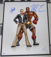 Signed Tyson Photograph - & Stan Lee 16x20 PSA DNA COA Limited Edition 'd #/50