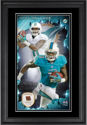 Mike Wallace Miami Dolphins 10'' x 18'' Vertical Framed Photograph with Piece of Game-Used Football - Limited Edition of 250
