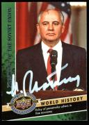 Mikhail Gorbachev Signed Card 2009 Upper Deck #162 JSA #R32234