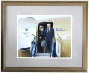 Mikhail Gorbachev Signed Framed 11x14 Photo Coming off Airplane Auto COA