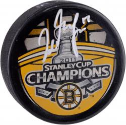 Milan Lucic Boston Bruins Autographed 2011 Stanley Cup Champions Logo Hockey Puck