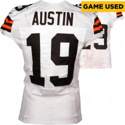 Miles Austin Cleveland Browns White Game-Used Jersey November 23, 2014 vs. Atlanta Falcons