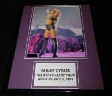 Miley Cyrus 2011 Gypsy Heart Tour Framed 11x14 Photo Display