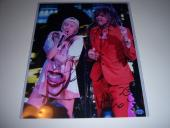 Miley Cyrus And Wayne Coyne Famous Singers Td/holo Signed 11x14 Photo