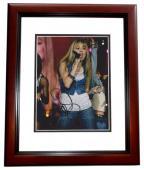Miley Cyrus Signed - Autographed Singer - Hannah Montana Actress 8x10 inch Photo MAHOGANY CUSTOM FRAME - Guaranteed to pass PSA or JSA