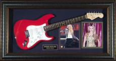 Miley Cyrus Autographed Guitar Framed Display