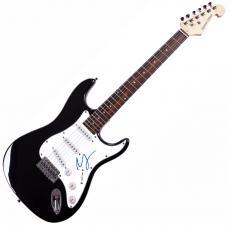 Miley Cyrus Autographed Signed Electric Guitar AFTAL UACC RD COA