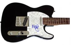 Miley Cyrus Autographed Signed Pearl Tele Guitar & Proof AFTAL