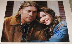 Miley Cyrus Billy Ray Cyrus Signed 11x14 Photo Autograph Hannah Montana Coa B