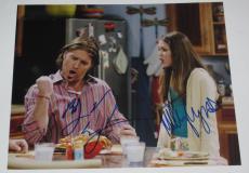 Miley Cyrus Billy Ray Cyrus Signed 8x10 Photo Autograph Hannah Montana Coa