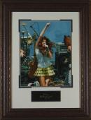 Miley Cyrus Replica Autographed Framed Photo Display