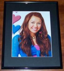 BEST DEAL EVER! Miley Cyrus Hannah Montana Signed Autographed Framed Photo JSA