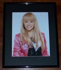 * BEST DEAL EVER! Miley Cyrus Hannah Montana Signed Autographed Framed Photo JSA