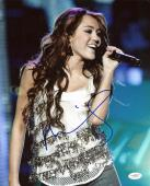 Miley Cyrus Sexy Signed 11X14 Photo Autographed JSA #E82252