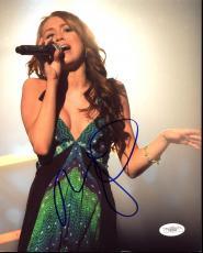 Miley Cyrus Signed 8X10 Photo Autographed JSA #E82590