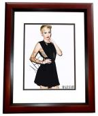 Miley Cyrus Signed - Autographed Singer - Actress 11x14 inch Photo - The Voice Judge - MAHOGANY CUSTOM FRAME - Guaranteed to pass PSA or JSA