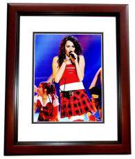 Miley Cyrus Signed - Autographed Singer - Actress 8x10 inch Photo MAHOGANY CUSTOM FRAME - Guaranteed to pass PSA or JSA