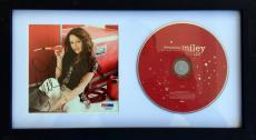 """Miley Cyrus Signed """" Breakout Platinum """"  Cd Framed JSA"""