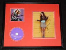 Miley Cyrus Signed Framed 16x20 Time of Our Lives CD & Photo Display JSA