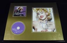 Miley Cyrus Signed Framed 16x20 Time of Our Lives CD & Topless Photo Display