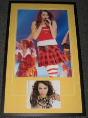 Miley Cyrus Signed Framed 22x36 Photo Poster Display JSA Hannah Montana
